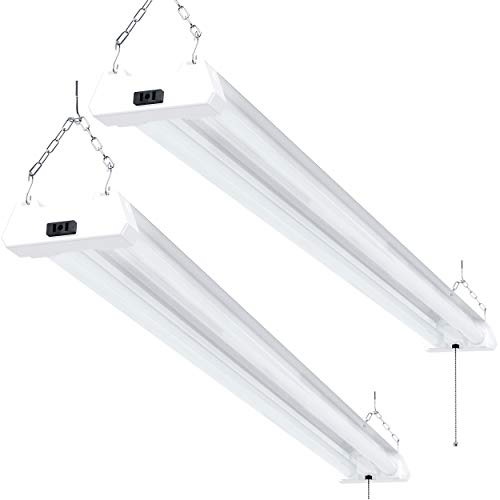 Sunco Lighting 2 Pack LED Utility Shop Light,...