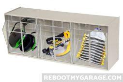 3 bin PPE storage