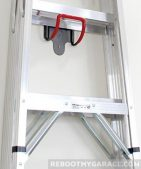 Art of Storage UH2000 hook carrying an A Frame ladder.