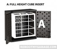 Option A: Use the entire interior height but not the cabinet shelf