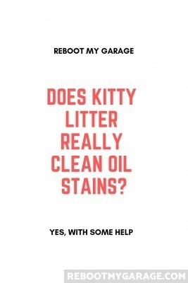 Does kitty litter clean oil stains?
