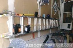 My ladder stored horizontally 2018