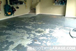 Paint peels, which is why I don't want it on moist concrete