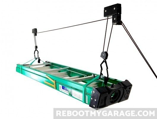 StoreYourBoard garage ladder storage hoist pulley