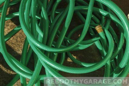 Tangled garden hose