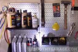 Wall Control Pegboard is galvanized against rust