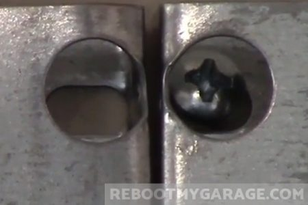 Install two Wall Control steel pegboards on one stud using angled screws