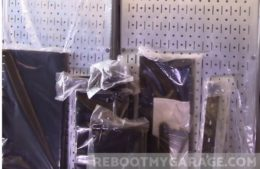 Wall Control steel pegboard shipping box contents