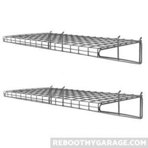 2 13018 wire shelves. I prefer bins
