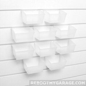 10 small bins (3210) in slatwall