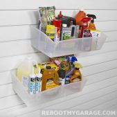 2 Extra Large bins carry caulking and gallon jugs