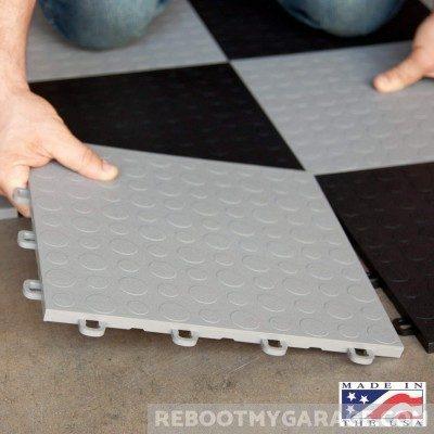 Installing the Blocktile garage floor polypropylene tiles