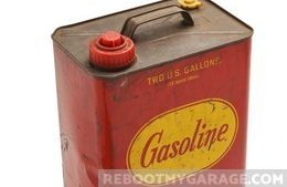 Storing a gas can in the garage