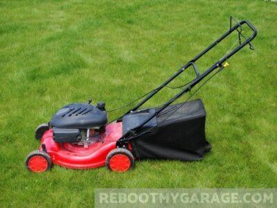 Lawn mowers take up garage storage space.
