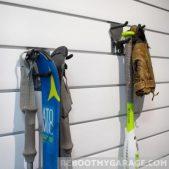 Hang skis from Proslat 13015 hooks