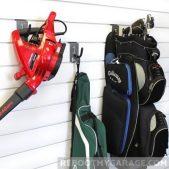 Hang yard tools on the 13017 Heavy Duty U Hook