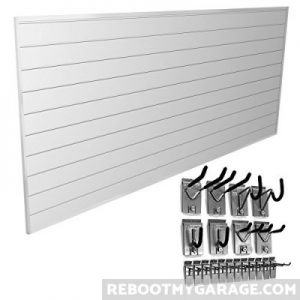 Proslat wall panels are comprised of individual tracks that snap together to make panels.