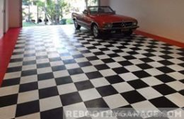 Racedeck black and white checkerboard floor covering