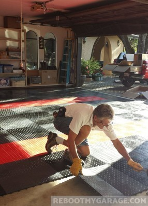 RaceDeck Diamon Tile Installation
