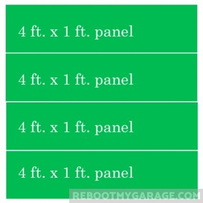 Four 4ft. panels create a 4 ft. wide by 4 ft. high wall.