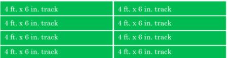 8 tracks in 2 columns