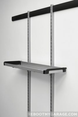 The Vertical Rack sub-system shelf has lipped sides