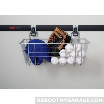 The Wire Basket holding balls and mitts