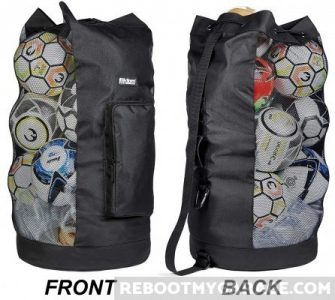 Store and carry sports balls in the Fitdom XL Mesh Bag