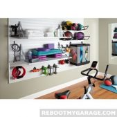 Using the gladiator as an attractive gym equipment storage solution