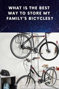 2-part vertical bike rack