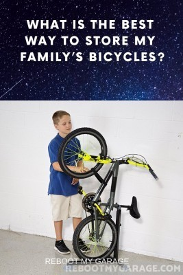 Kid's bike on the wall