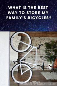 Vertical bike wall mount