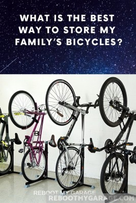 Best way to store adult bikes