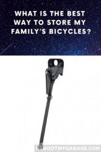 Adult bike kickstand