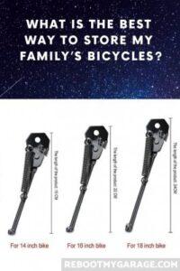 Put kickstands on kids' bikes