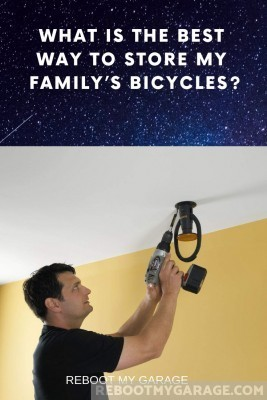 Install the advanced bike claw on the ceiling or Gladiator wall.