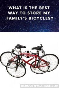 Bike wall mount cross wise