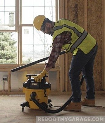 DeWalt DXV06P vacuum cleaner used in construction