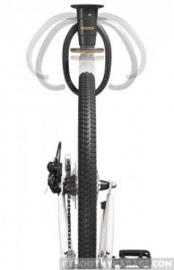 How the Gladiator Claw holds a bike tire