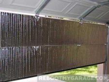 Reflective radiant insulation installation