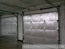 SmartGARAGE Reflective non-fiberglass garage door insulation kit