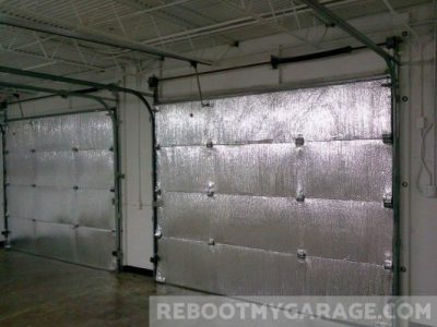 Reflective non-fiberglass garage door insulation kit
