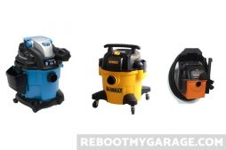 VacMaster, DeWalt and Ridgid Garage Vacuum Cleaners