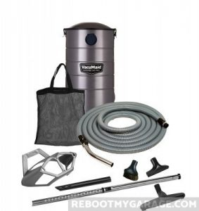 The VacMaid GV50Pro is a solid, wall-mounted garage vac with a great reputation.