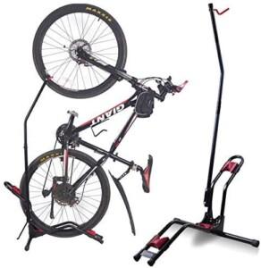 Vertical bike floor stand