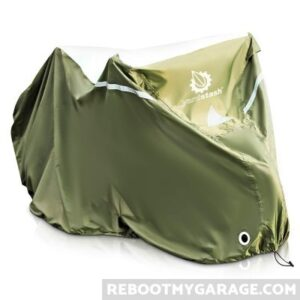 Outdoor bicycle cover.