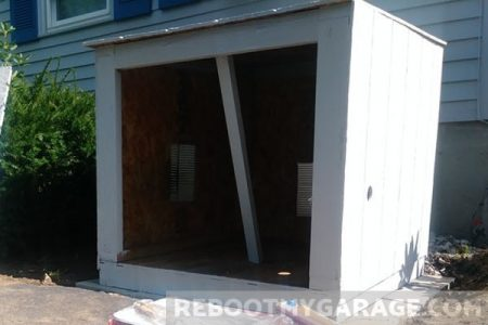 Move the shed from the garage to generator shed enclosure