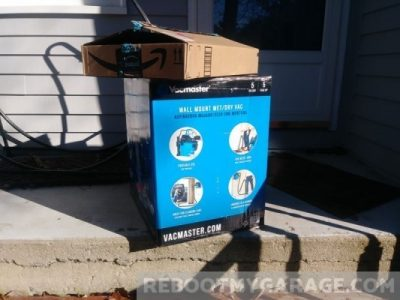 VacMaster VWMB5080101 (formerly VWM510) Delivery: The Vacuum Cleaner and wheel kit boxes on my front porch