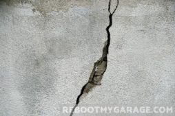 Cracked garage floor