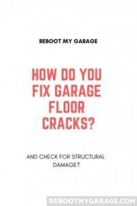 Fix garage floor cracks